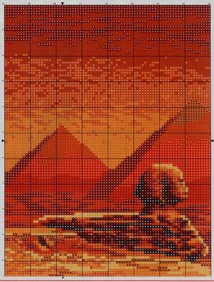 Египетская кошка схема вышивки крестом 60